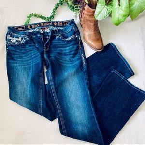"💙Rock Revival💙 30""x 35"" Bootcut Dark-wash Jeans"